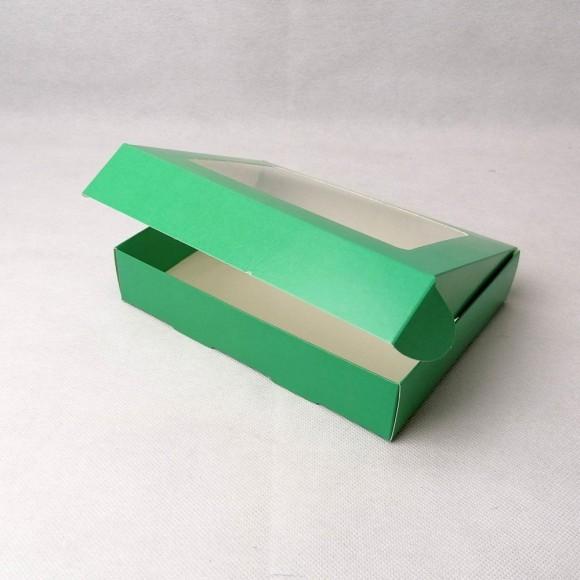 Коробка для печенья,пряников с окошком 192х148х40 мм Зеленая.Купить в Харькове,Киеве по лучшей цене в интернет- магазине Тортодел