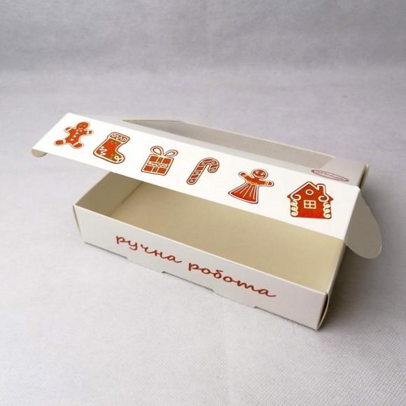Коробка для печенья,пряников с окошком 192х148х40 мм Имбирное печенье.Купить в Харькове,Киеве по лучшей цене в интернет- магазине Тортодел