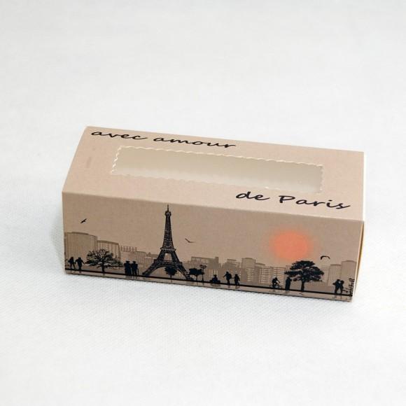Коробка для Макаронс Paris 141х59х49 мм.Купить в Харькове,Киеве по лучшей цене в интернет- магазине Тортодел