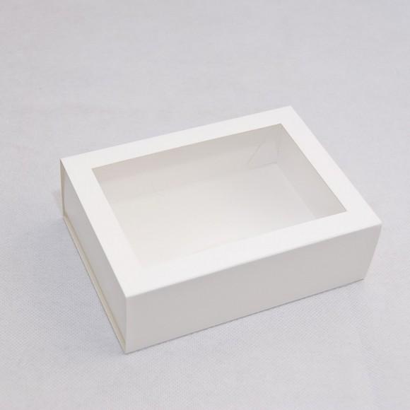 Коробка для Макаронс 115х155х50 Белая с окном (на 12 шт).Купить в Харькове,Киеве по лучшей цене в интернет- магазине Тортодел