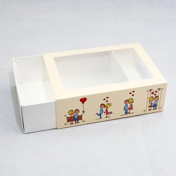 Коробка для Макаронс 115х155х50 Любовь с окном (на 12 шт).Купить в Харькове,Киеве по лучшей цене в интернет- магазине Тортодел