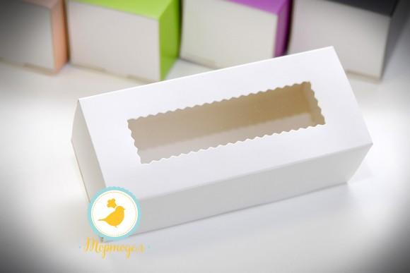 Коробка для макаронс белая 141х49х59 мм.Купить в Харькове,Киеве по лучшей цене в интернет- магазине Тортодел