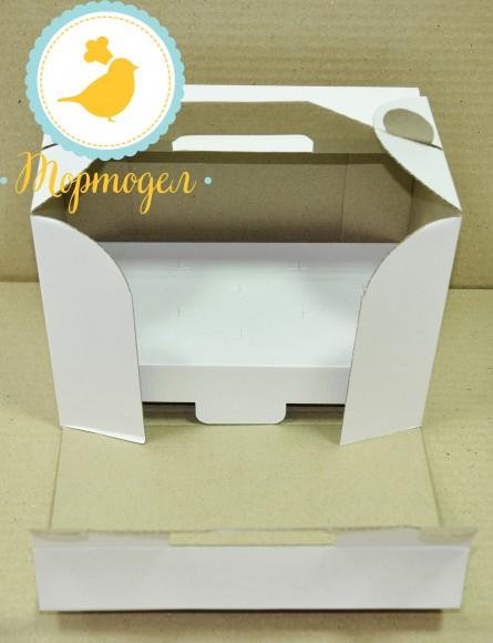 Коробка для кейк-попсов на 10 шт 242х145х175.Купить в Харькове,Киеве по лучшей цене в интернет магазине Тортодел