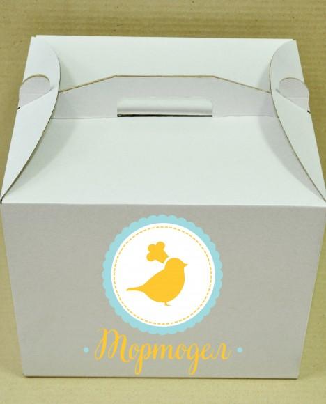 Коробка картонная для торта, размер 25х25х150 см.Купить в Харькове,Киеве по лучшей цене в интернет- магазине Тортодел