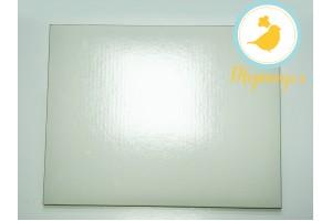 Поднос для торта прямоугольный белый/золото 30 х 40 см