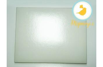 Поднос для торта прямоугольный белый/золото 35 х 45 см