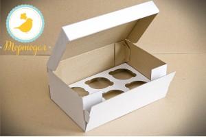 Коробка на 6 кексов 250х170х100