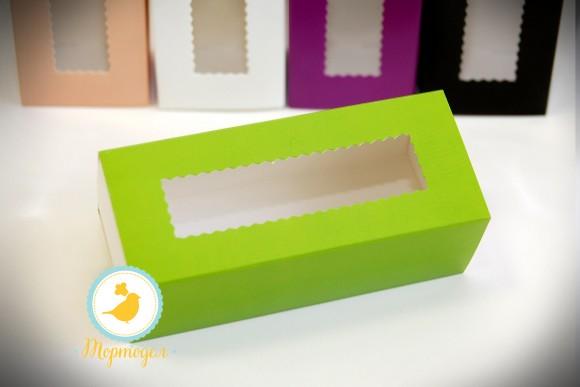 Коробка для макаронс зеленая  141х49х59 мм.Купить в Харькове,Киеве по лучшей цене в интернет- магазине Тортодел