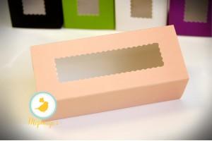 Коробка для макаронс персиковая  151х49х59 мм