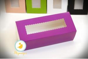 Коробка для макаронс фиолетовая 151х49х59 мм