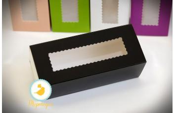Коробка для макаронс черная  151х49х59 мм