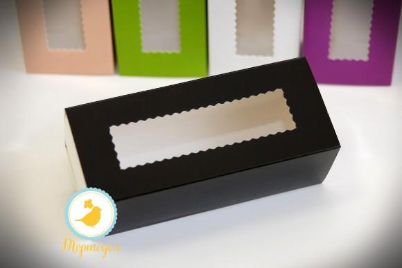 Коробка для макаронс черная  141х49х59 мм.Купить в Харькове,Киеве по лучшей цене в интернет- магазине Тортодел
