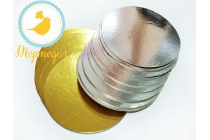 Подложка круглая серебро/золото D13 см