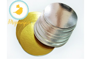 Подложка круглая серебро/золото D18 см
