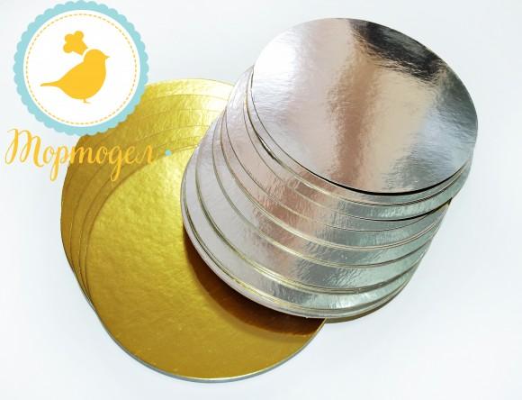 Подложка круглая серебро/золото D28 см