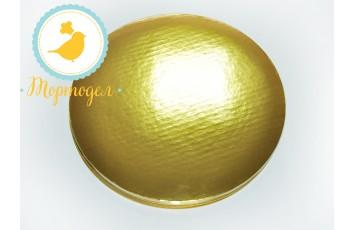 Поднос для торта круглый золото/золото D 25 см