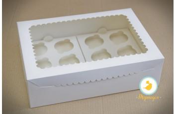 Упаковка на 12 кексов с окошком