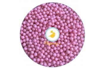 Рисовые шарики перламутровые розовые 3 мм со вкусом клубники 20 г