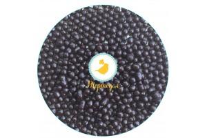 Рисовые шарики перламутровые черные 3 мм со вкусом черного шоколада 100 г