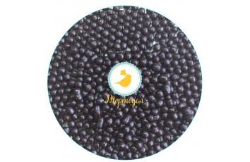 Рисовые шарики перламутровые черные 3 мм со вкусом черного шоколада 20г