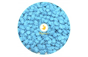Посыпка декоративная Снежинки (маргаритки) голубые 50г.