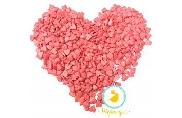 Сердца большие розовые перламутровые Топ-Продукт 50 г.