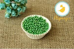 Сахарные шарики зеленые 5 мм 50 г.