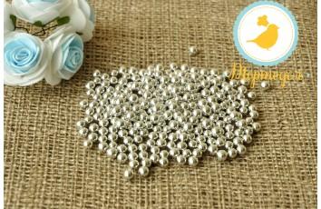 Сахарные шарики Серебрянные 5 мм, 50г