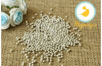Сахарные шарики Серебрянные 4 мм, 50г