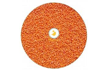 Нонпарель  перламутровое оранжевое d-1 мм ,50 г