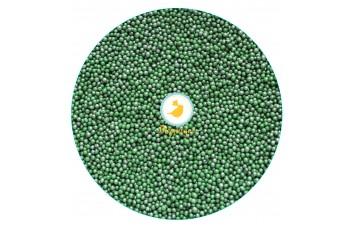 Нонпарель  перламутровое темно-зеленое-1 мм ,100 г