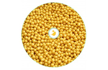 Рисовые шарики желтые перламутровые  3 мм 50 г