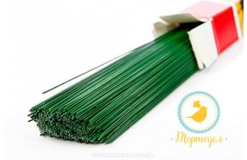 Проволока зеленая без обмотки D 0.5