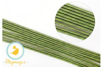 Проволока зеленая в обмотке № 22 100 г (65-72 шт)