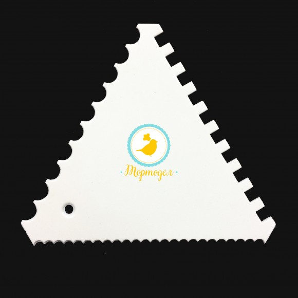 Скребок треугольный зубчатый  №1 110х95 мм.Купить в Киеве,Харькове и Украине по лучшей цене в интернет магазине Тортодел