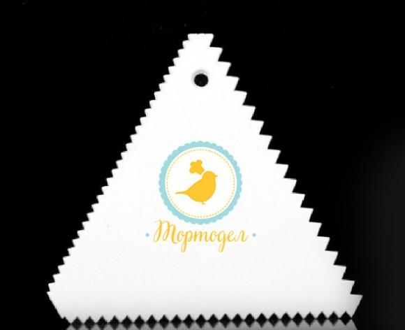 Скребок треугольный зубчатый  №2 105*98мм.Купить в Киеве,Харькове и Украине по лучшей цене в интернет магазине Тортодел