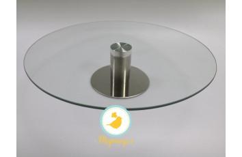 Подставка крутящейся для работы с тортом 300*70 мм №4 Стеклянная