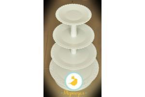 Подставка под торт (капкейки) 4 яруса
