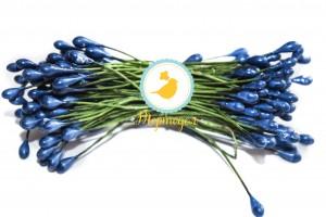 Тычинка двусторонняя на зеленой проволоке (синяя)