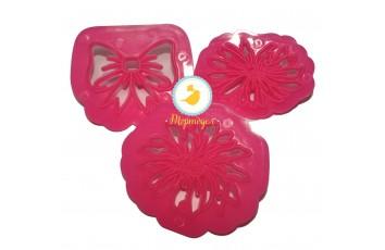 Набор вырубок Ассорти №6 (Цветочки, бантики) из 3 ед