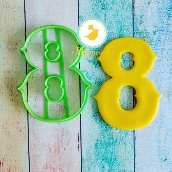 Вырубка для пряника Восьмерка с острячками.Купить в Киеве,Харькове и Украине по лучшей цене в интернет магазине Тортодел