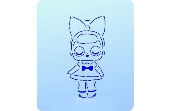 Трафарет + вырубка Кукла Лол № 10