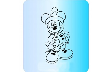 Трафарет + вырубка Мышка №76