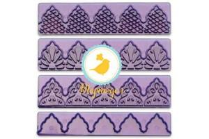 Набор вырубок Бордюр из 4 ед фиолетовый