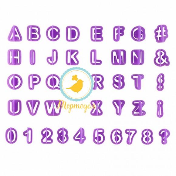 Вырубка алфавит + цифры фиолетовый.Купить в Киеве,Харькове и Украине по лучшей цене в интернет магазине Тортодел