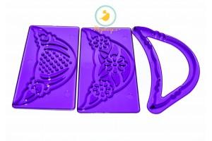 Набор вырубок Узор из 3-х ед фиолетовый