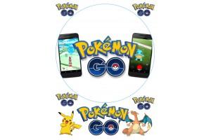 Вафельная картинка Pokemon Go № 2