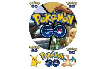 Вафельная картинка Pokemon Go №3