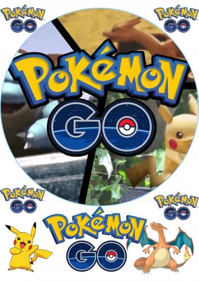 Вафельная картинка Pokemon Go №3. Купить вафельную или сахарную картинку Киев и Украина. Цена в интернет магазине Тортодел.