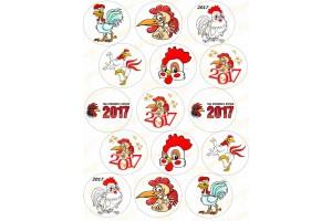 Картинка для маффинов и капкейков Новый Год №12